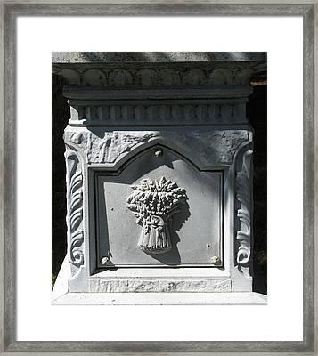 Stone Sheaf Memorial Framed Print by M E Cieplinski