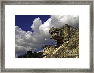 Stone Sky And Clouds Framed Print by Ken Frischkorn