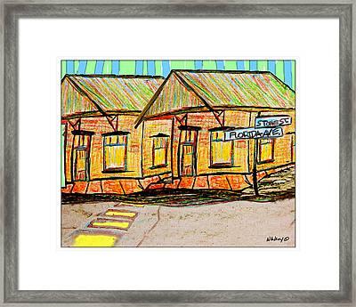 Stone St. House Framed Print