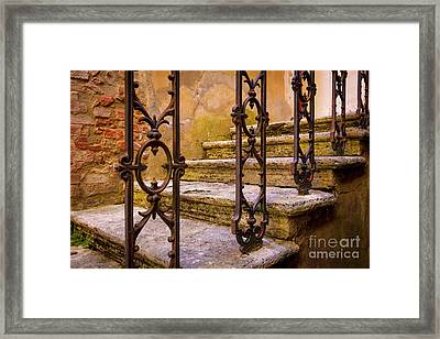 Stone Staircase Framed Print