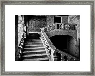Framed Print featuring the photograph Stone Stairs by Adrian Pym