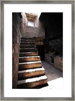 Stone Stairs At Santa Catalina Monastery Framed Print