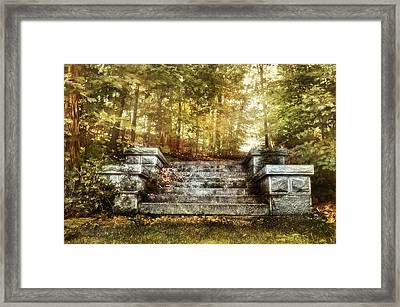Stone Stairway Framed Print by HD Connelly