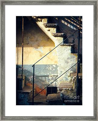 Framed Print featuring the photograph Stone Steps Outside An Old House by Silvia Ganora