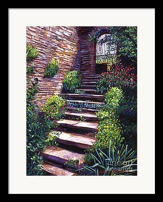 Stone Steps Paintings Framed Prints