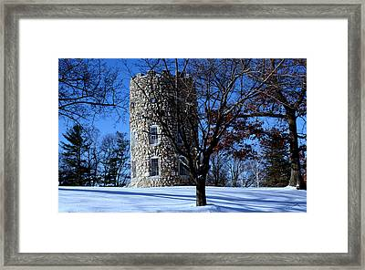 Stone Tower Framed Print by Lois Lepisto