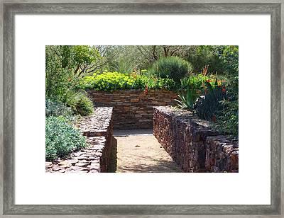 Stone Walkway Framed Print