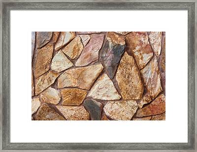 Stone Wall Framed Print by Boyan Dimitrov