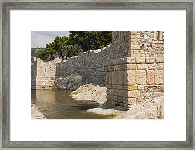 Stone Wall In Foca Framed Print by Bob Phillips