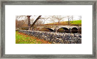 Stone Wall - Stone Bridge Framed Print by Paul W Faust - Impressions of Light