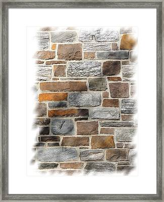 Stone Wall Framed Print