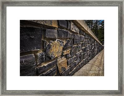 Stone Wall With Perspective Framed Print