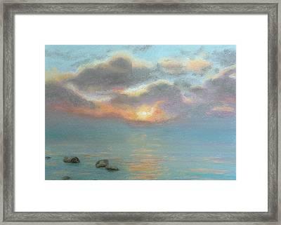 Stone Water Sunrise Framed Print by Lynn ACourt