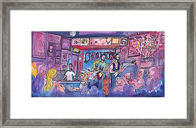Stonebraker At Quixotes True Blue Framed Print by David Sockrider
