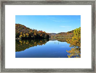 Stonecoal Lake In Autumn Color Framed Print by Thomas R Fletcher