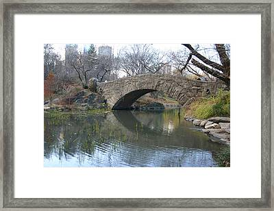 Stoned Bridge Framed Print by Dennis Curry