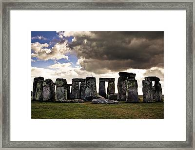 Stonehenge After The Storm Framed Print by Justin Albrecht
