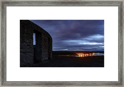 Framed Print featuring the photograph Stonehenge And The Columbia by Cat Connor