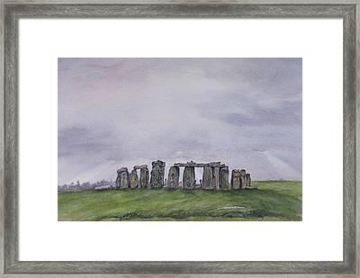 Stonehenge  Framed Print by Debbie Homewood