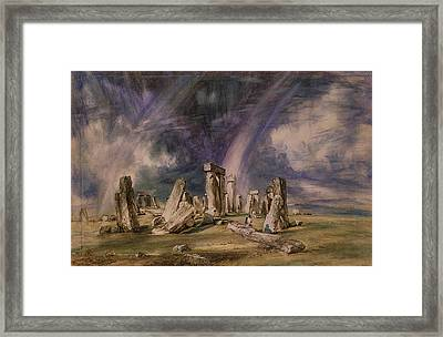 Stonehenge Framed Print by John Constable