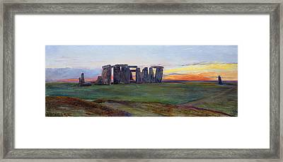 Stonehenge Framed Print by John William Inchbold