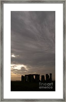 Stonehenge Framed Print by Louise Fahy