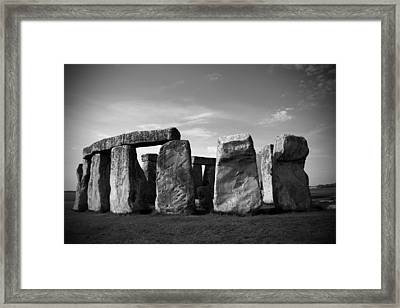 Stonehenge No 1 Bw Framed Print