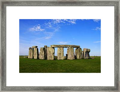Stonehenge On A Clear Blue Day Framed Print