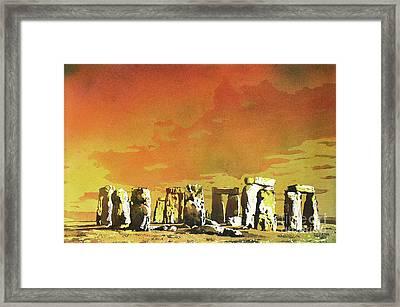 Stonehenge Ruins Framed Print by Ryan Fox