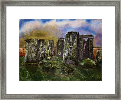 Stonehenge Framed Print by Shelley Bain