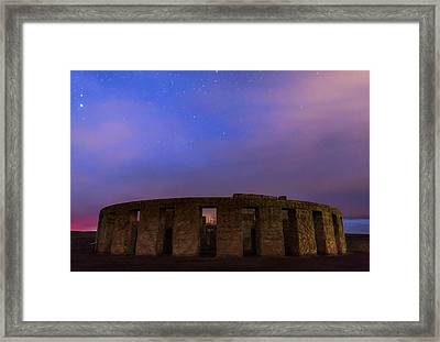 Framed Print featuring the photograph Stonehenge Sunrise by Cat Connor