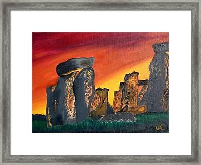 Stonehenge Sunrise Framed Print by Warren Thompson