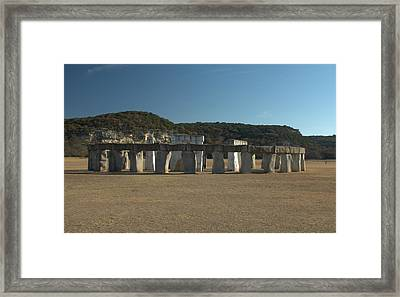 Framed Print featuring the photograph Stonehenge Two Texas by Karen Musick
