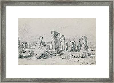 Stonehenge Wiltshire Framed Print by John Constable