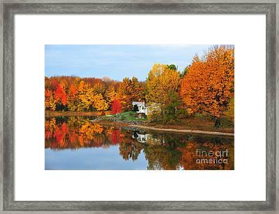 Stoneledge Lake Mirror Reflection Framed Print