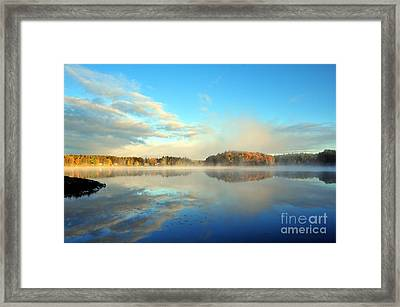 Stoneledge Lake Morning In October Framed Print