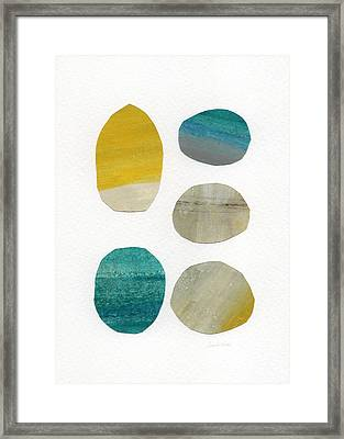 Stones- Abstract Art Framed Print