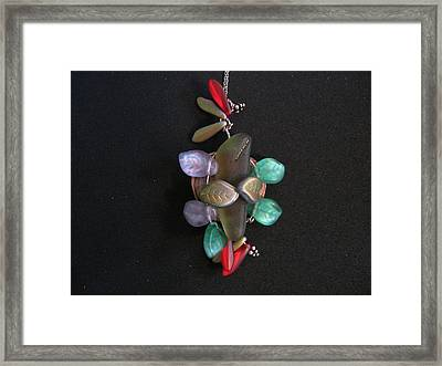 Stones And Leaves Framed Print by Judith Z Miller
