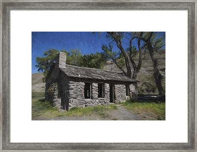 Stones And Paint Framed Print by David Kehrli