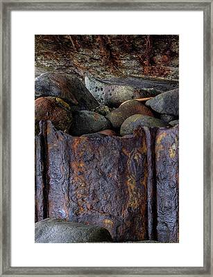 Framed Print featuring the photograph Rusted Stones 1 by Steve Siri