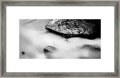 Stones In Silky Water Framed Print