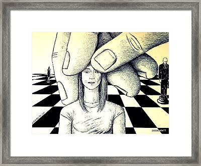 Stones In The Chessboard Of Life Framed Print