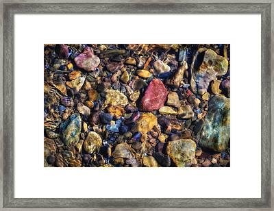 Stones Framed Print by James Barber