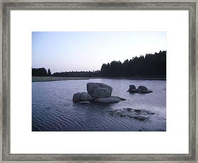 Stones Of Serenity Framed Print