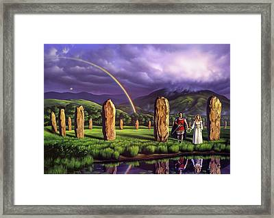 Stones Of Years Framed Print by Jerry LoFaro