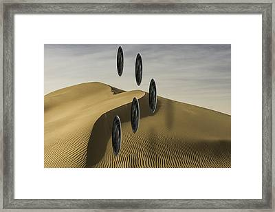 Framed Print featuring the photograph Stones Over Dunes One by Kevin Blackburn