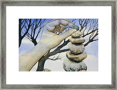Framed Print featuring the painting Stones by Sheri Howe