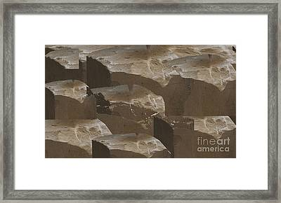 Stones Used For Carving Statues N Build Walls Of Churches And Temples  Textures Shades Download Jpg  Framed Print