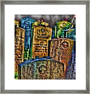 Stones Framed Print by Vince Green