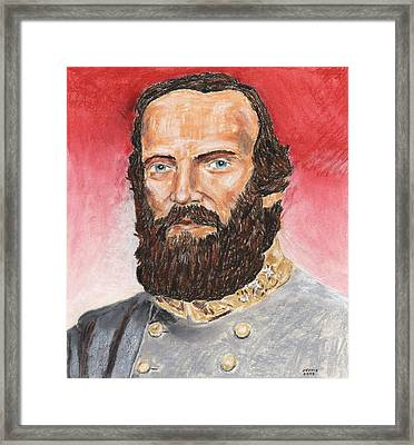 Stonewall Jackson Framed Print by Dennis Larson
